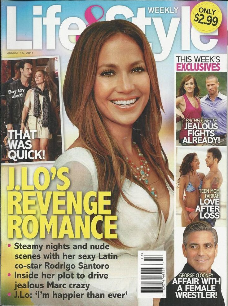 Life and Style magazine Jennifer Lopez The Bachelorette Teen Mom George Clooney