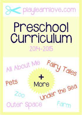 2014-2015 Preschool Curriculum - playlearnlove.com