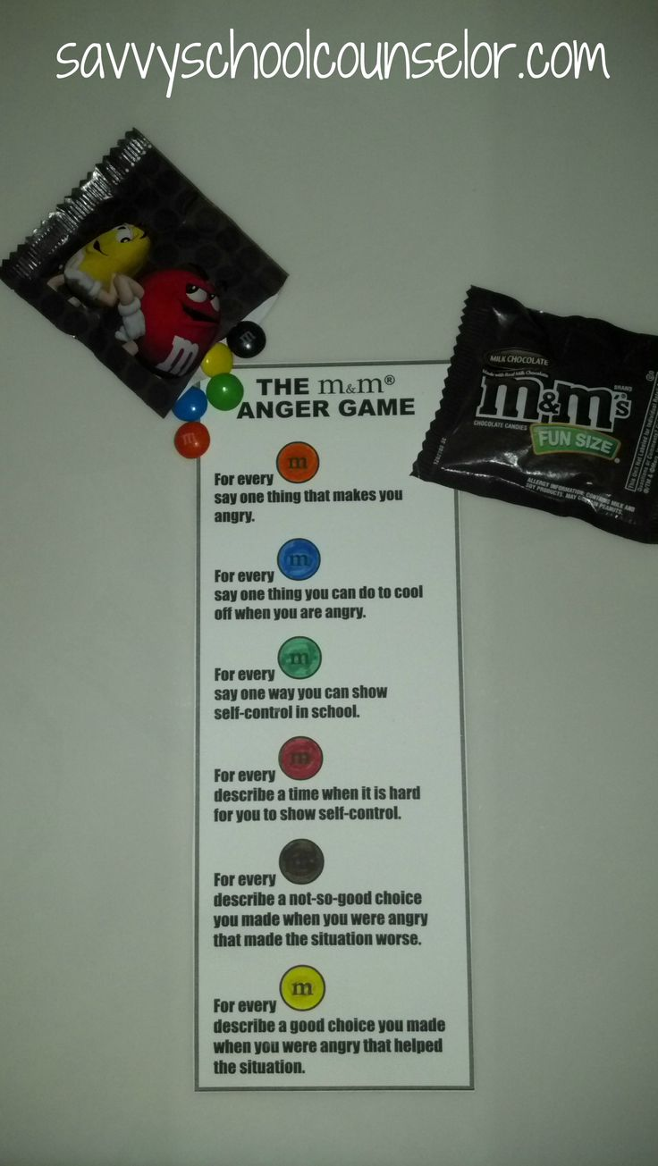 m and m anger game- savvyschoolcounselor.com