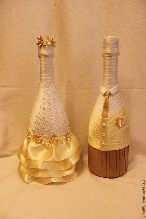 Купить Свадебное шампанское - оформление бутылок, свадебное оформление, свадебное шампанское, шампанское на свадьбу, шампанское