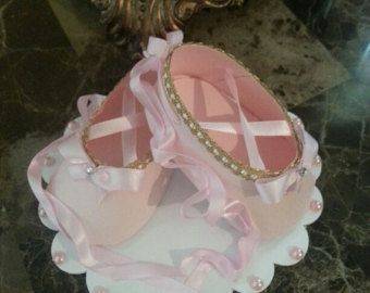 Rosa TuTu calzado Topper de la torta con por TheCarriageShoppe
