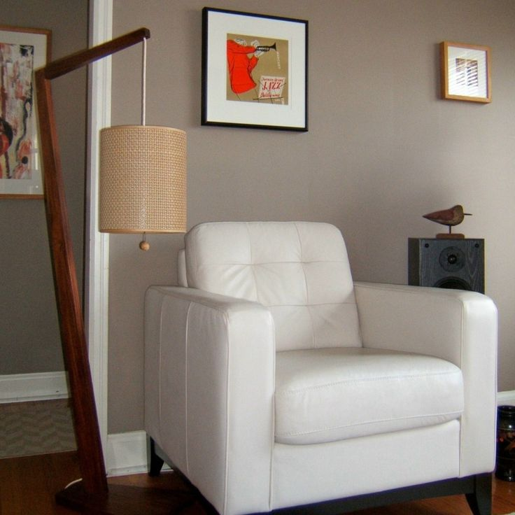 Mid Century Modern Walnut floor lamp