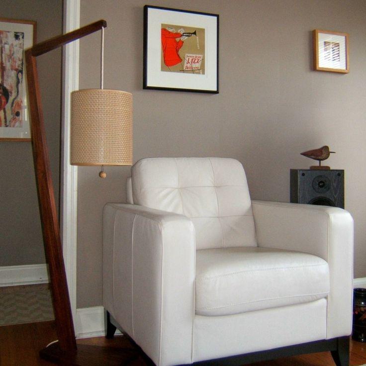 Mid Century Modern Walnut floor lamp