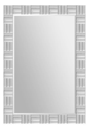 Small beveled rectangular mirrors make up the frame of the Dueville mirror and surround the beveled center mirror.