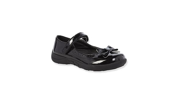 """Black Patent Shoe. """"Smart and stylish, these pretty black patent shoes will delight little feet."""""""