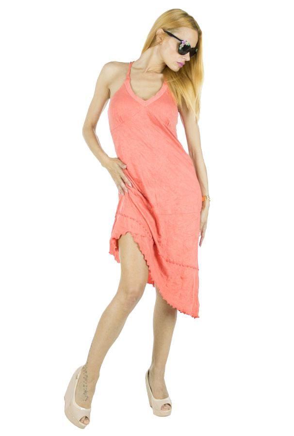 Rochie Dama Super  Rochie dama ce cade lejer pe corp, fiind usor de purtat in sezonul cald. Taietura usor asimetrica.     Latime talie: 37cm  Lungime: 78cm  Lungime colt: 95cm  Compozitie: 100%Bumbac