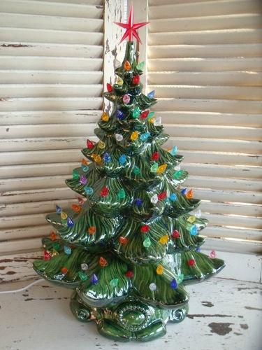 "Vintage 1970's Lighted Atlantic Mold 22"" Ceramic Christmas Tree | eBay"