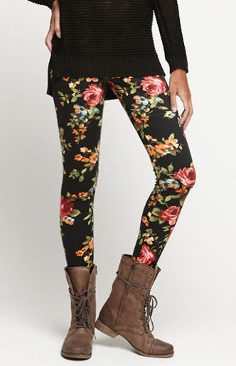 I have this floral leggings! But I wouldn't wear the boots