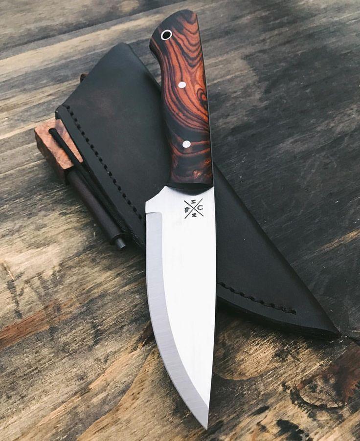 "Gefällt 1,171 Mal, 38 Kommentare - Marc Weinstock - Knifemaker (@marcweinstock) auf Instagram: ""Bushcraft with ironwood handle getting some fine tuning before heading out the door. #knife…"""