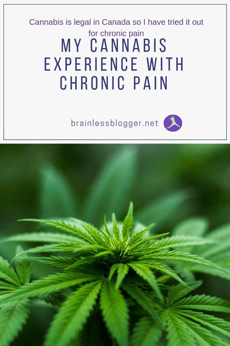 My cannabis experience with chronic pain