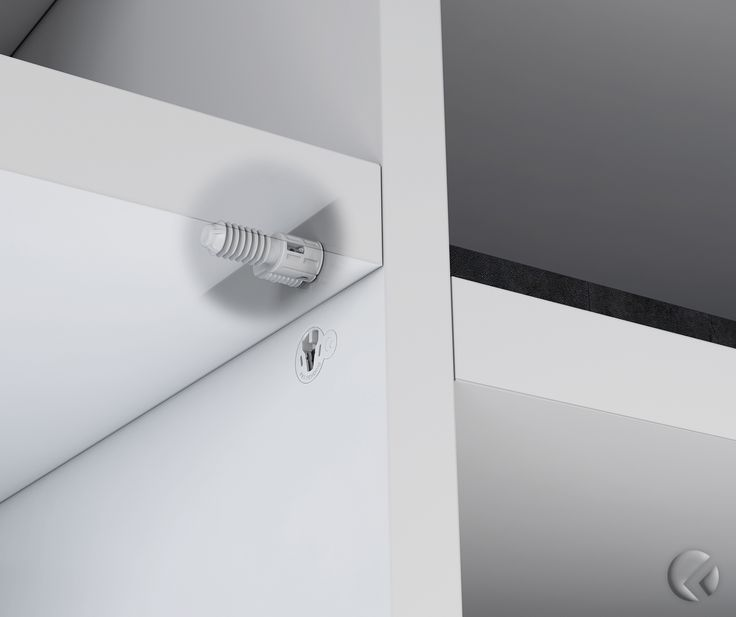 #SECRET is the hidden shelf support, the only one that guarantees both the shelf #Locking and #Unlocking. #CompletelyHidden, even when used on bifacial furniture. Can be used on shelves 25 mm minimum thick. The anchoring system provides a structural junction between the shelf and the side panel, thus making SECRET suitable even for constructions with flap and drop-down doors. #LivingRoom #Bookcase #Bedroom