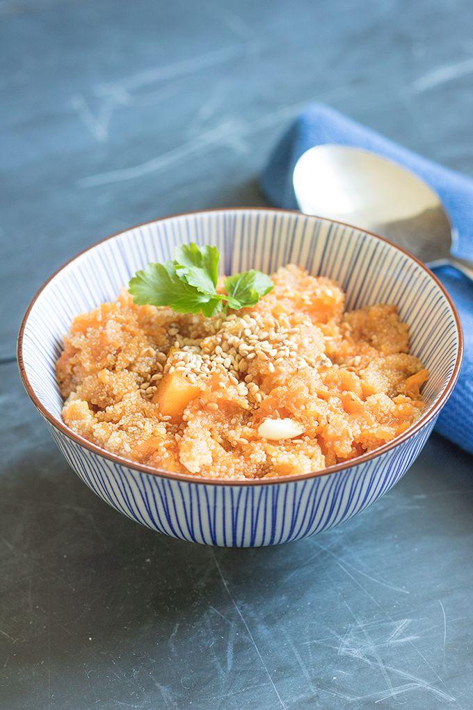 Spicy pumpkin-amaranth soup   Zuppa di amaranto e zucca. #theblackfig #soup #pumpkin