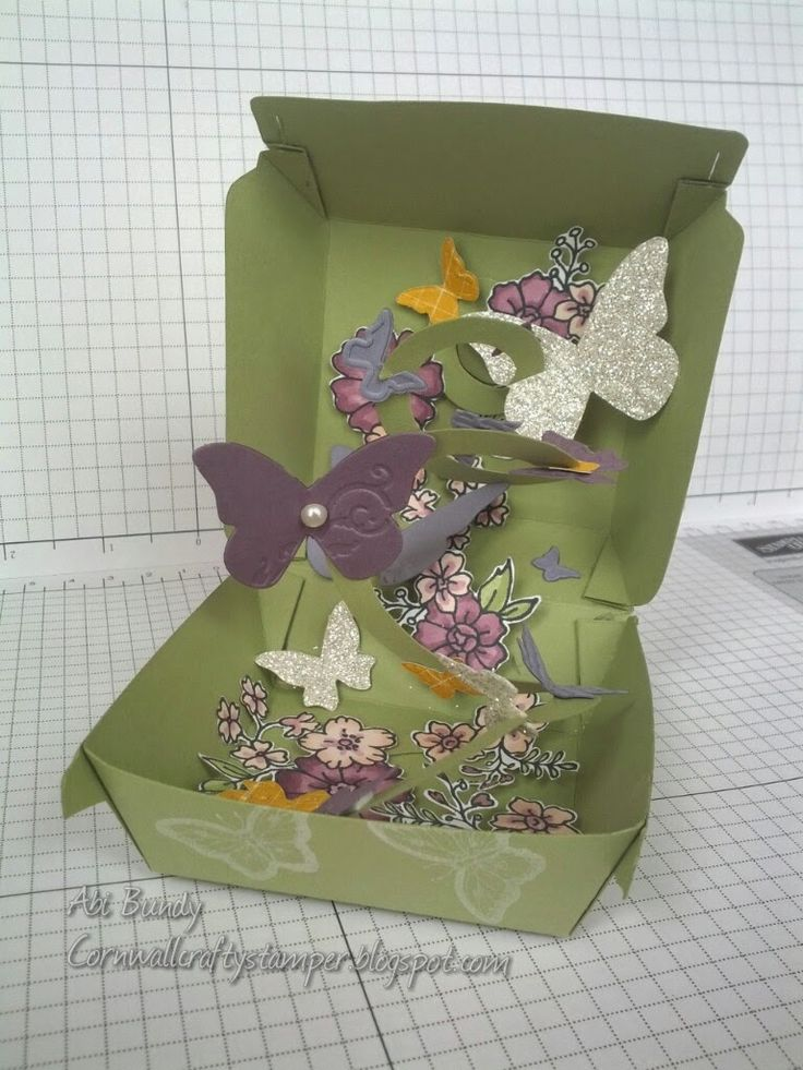 Stampin' Up! UK Demonstrator Abi Bundy: Butterfly burgers - hamburger die fun project. Hope you weren't expecting something edible. {grin} Picture of the outside of the box in the post.