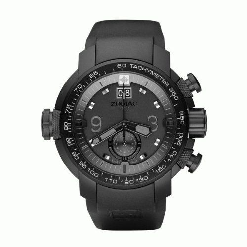 Zodiac ZMX-03 ZO8507 Gents Chronograph watch with LED illuminated dial and anti-allergic rubber strap