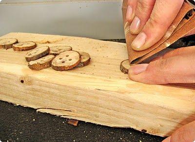 botones ramas de arboles o madera dos tutoriales