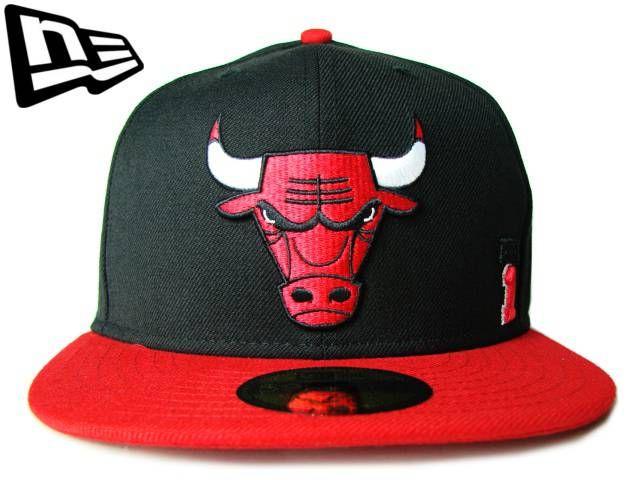 """【ニューエラ】【NEW ERA】59FIFTY CHICAGO BULLS """"BULLS BIG LOGO"""" レッドXブラック 【シカゴ】【NBA】【CAP】【newera】【帽子】【snap back】【B系】【ブルズ】【バスケ】【FITTED】【ジョーダン】【jordan】【あす楽】【楽天市場】"""