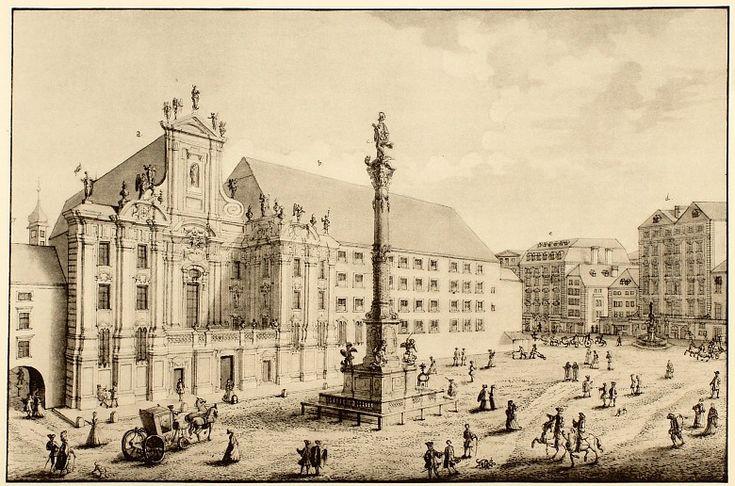 Johann August Corvinus (after Salomon Kleiner): View of the Am Hof square in Vienna