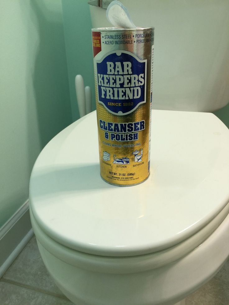 how to clean rust out of toilet tank