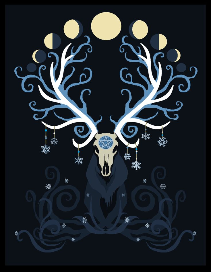 Winter Elk moon phases by Elk-Heart.deviantart.com on @deviantART