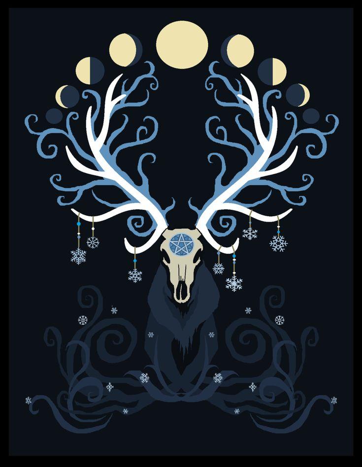 Winter Elk moon phases by Elk-Heart.deviantart.com on @deviantART