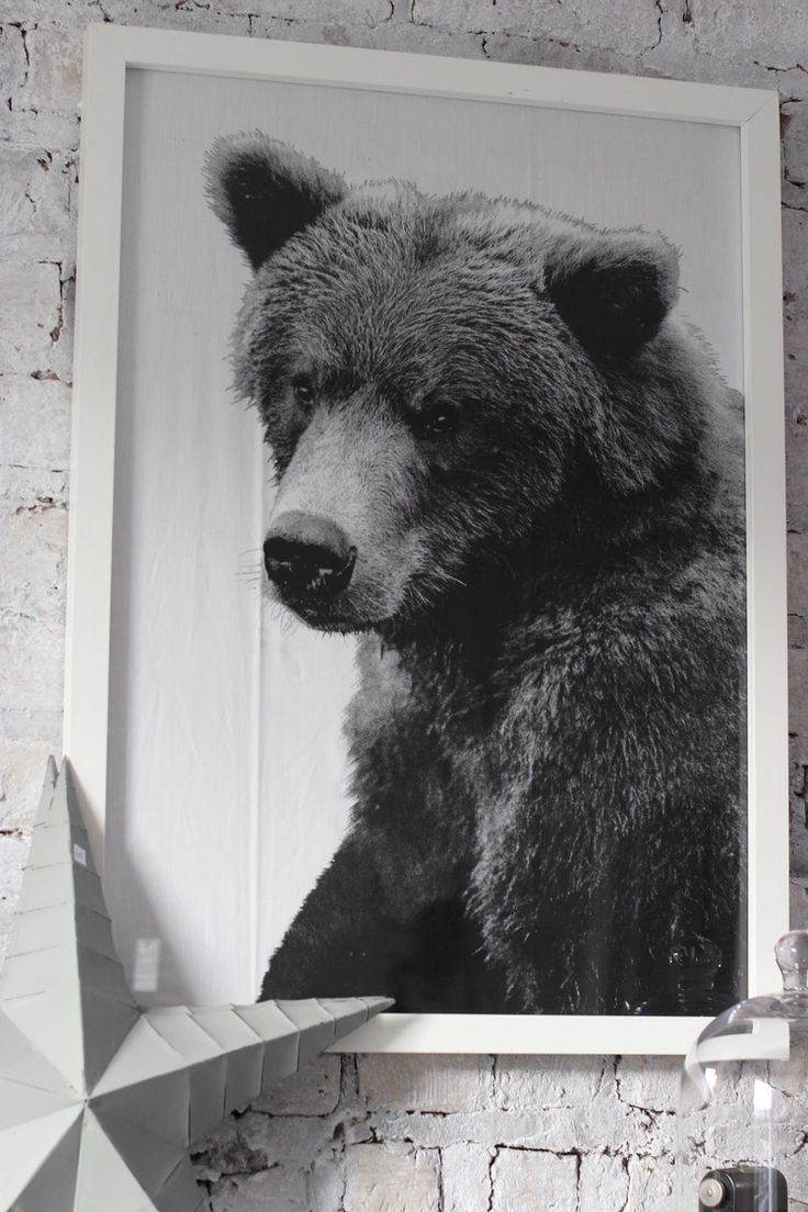 Bear tea towel in a frame - www.aprilandthebear.com