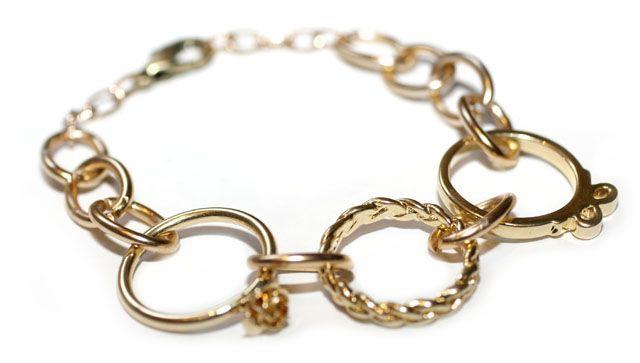 .Chains Bracelets, Diy Fashion, Jewelmint Rings, Diy Gift, Diy Bracelets, Bracelets Diy, Diy Hands, Rings Diy, Rings Bracelets