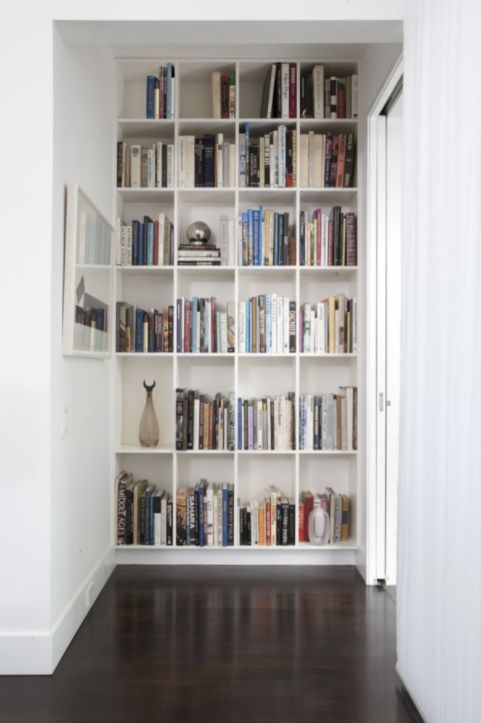 hallway shelves - this would be nice in an office too.... - B