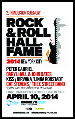 Unique Rock and Roll Hall Of Fame Poster