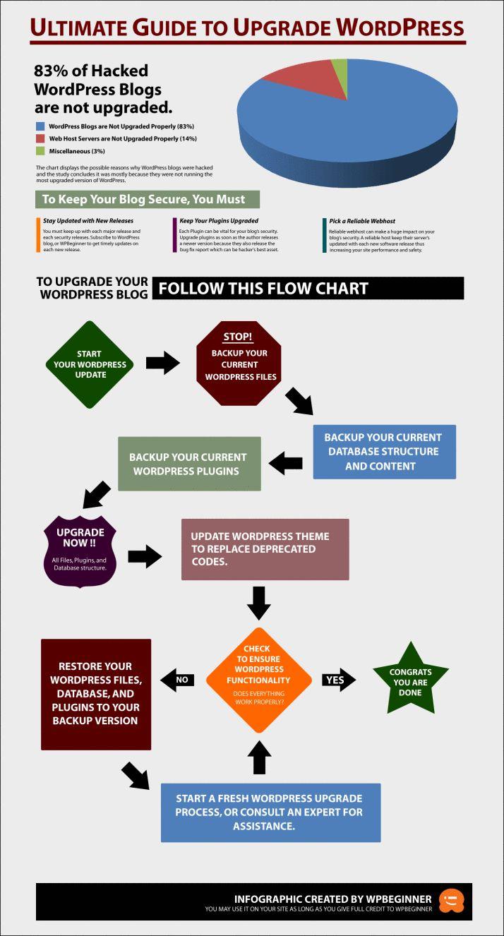 Cómo actualizar tu blog de WordPress #infografia #infographic #socialmedia