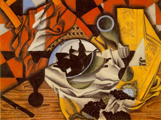 Juan Gris Pears and Grapes on a Table 1913 oil on canvas 55 x 73cms