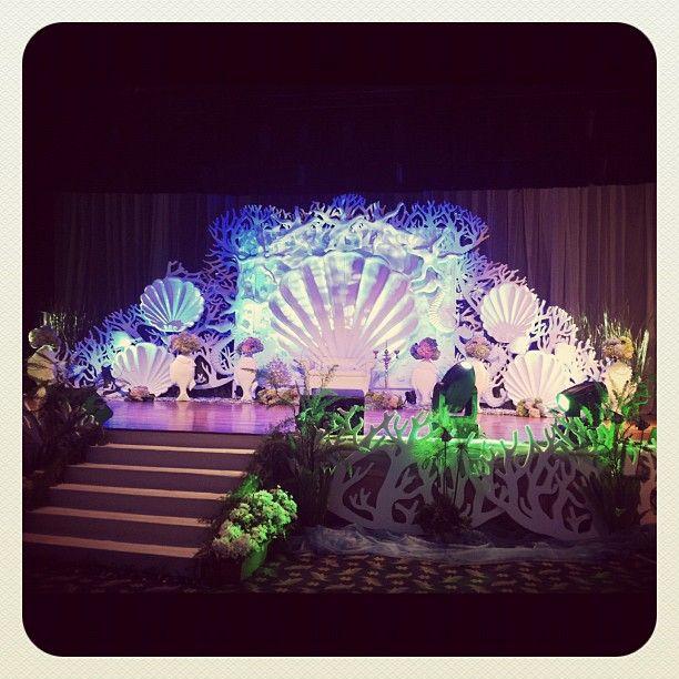 Under The Sea Themed Pelamin Pelamin Wedding Stage