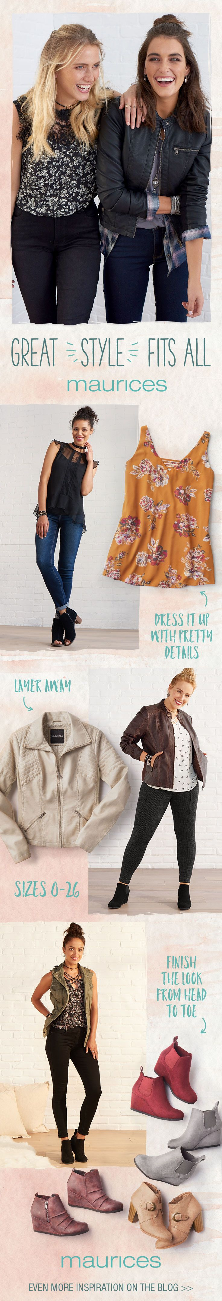 Make the most of your style with must-haves from summer to fall in sizes 0-26. Plus, say hello to FREE shipping when you pick up in store or on orders $50 or more and FREE returns to any one of our 1,000 boutique stores