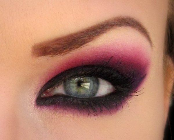Beautiful and daring... If I tried to do this on my own, I'd look like the purple people eater...