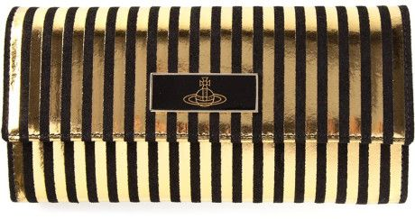 Vivienne Westwood Orb Logo Purse in Gold (black)