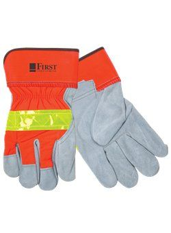 Starline - 22433 - WL21 - Hi-Viz Leather Gloves w/Safety Cuffs  To order or for more information or pricing please contact info@roadgearsports.com