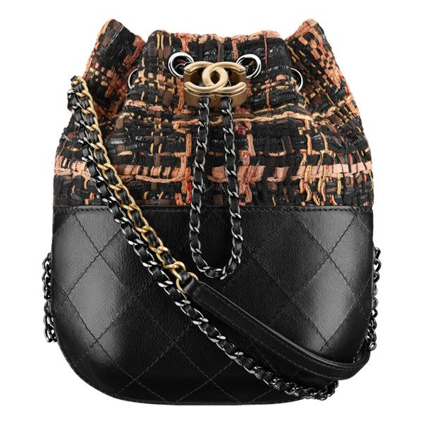 terracotta, ecru, black blue Chanel ❤ liked on Polyvore featuring bags, handbags, chanel, blue bag, chanel purse, tweed bag and blue purse