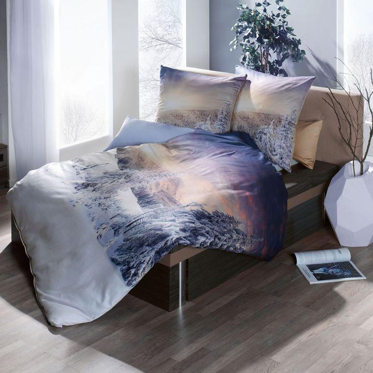 Diese Kaeppel Mako-Satin Bettwäsche Daylight überzeugt mit unglaublicher Farbbrillanz welche durch einen hochwertigen Digitaldruck hervorgerufen wird. Die Garnitur ist mit einem Reißverschluss ausgestattet und zeigt ein schönes winterliches Waldmotiv. www.bettwaren-shop.de