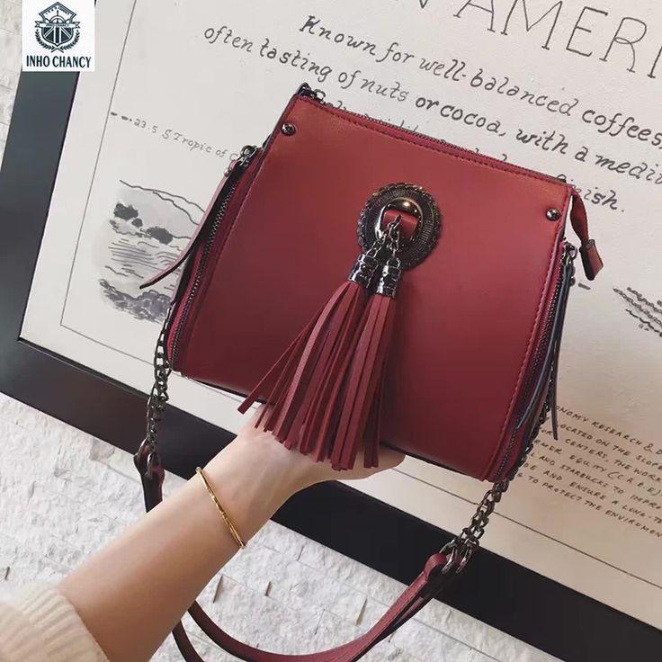 INHO CHANCY! Leather Women Handbags Double Zipper Hobo Women's Shoulder Bag Ladies Messenger Bags Vintage Womens Crossbody #Affiliate