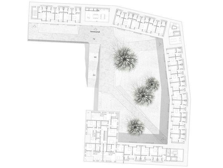 Lärmschutzbebauung am Innsbrucker Ring in München - ver.de landschaftsarchitektur