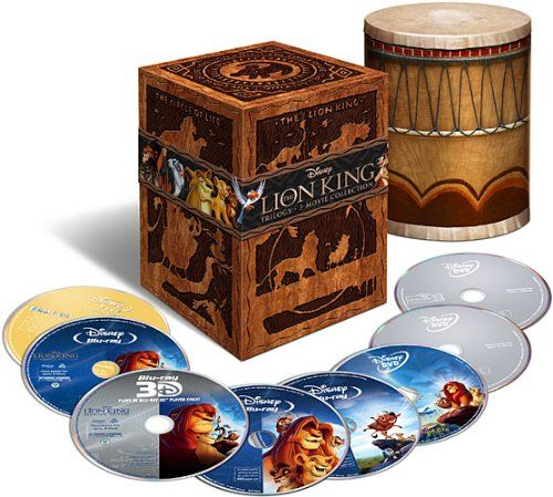 The Lion King Trilogy (Eight-Disc Combo: Blu-ray 3D / Blu-ray / DVD / Digital Copy) This would be an awesome thing to own!!!!!