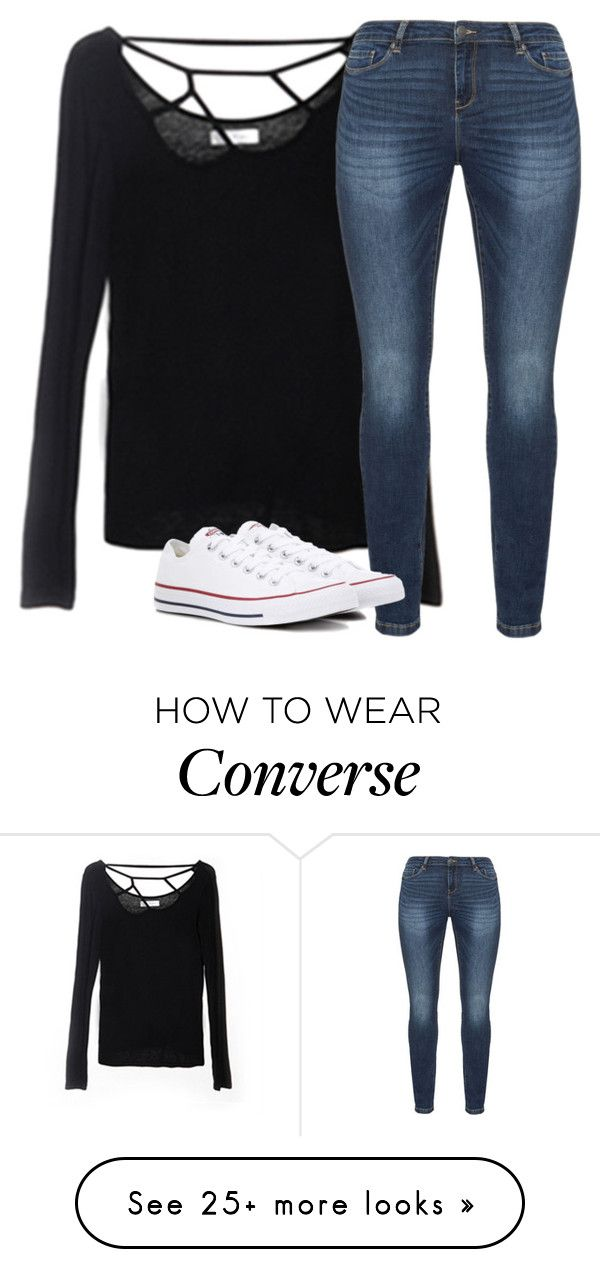 """""""Untitled #2531"""" by laurenatria11 on Polyvore featuring JunaRose and Converse"""
