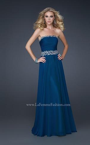midnight blue #prom La Femme dress LOVE
