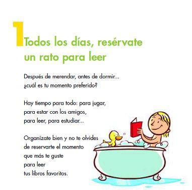 Decálogo para niños para crear lectores - Ministerio de Cultura Plan de Fomento de la Lectura