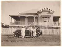 """The Queenslander - characterised by """"curved expanses of corrugated roofing iron, tall stumps, lattices and roof ventilators...allowing for breezeways"""". Similar features were then applied to Australian beach houses.     From http://australia.gov.au/about-australia/australian-story/austn-architecture#"""
