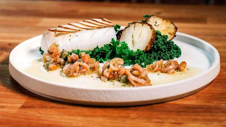 - Saus til hvit fisk: Bacon- og Løkvinaigrette -  Sauce to white fish - cod - Oven baked Bacon- and Onion Vinaigrette