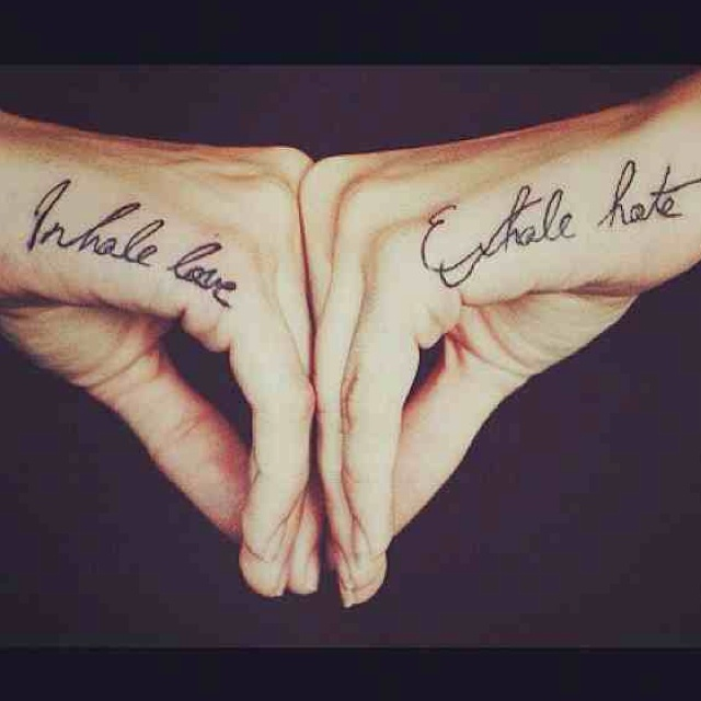 37 best tats images on pinterest inspiration tattoos for Love n hate tattoo