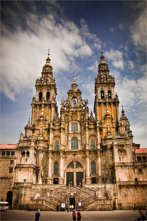 Santiago de Compostela - Santiago, Spain... doing the el camino in may! Can't wait to see this up close :)