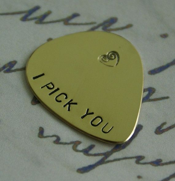 I PICK YOU Guitar Pick Personalized guitar by giftforbestfriends