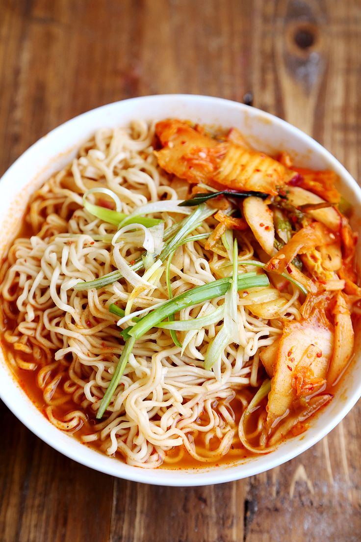 Healthy_Homemade_Kimchi_Ramen_Recipe I used about 5 cups of water and if I make it again will probably only use one packet of ramen. I also added some cooked shrimp.