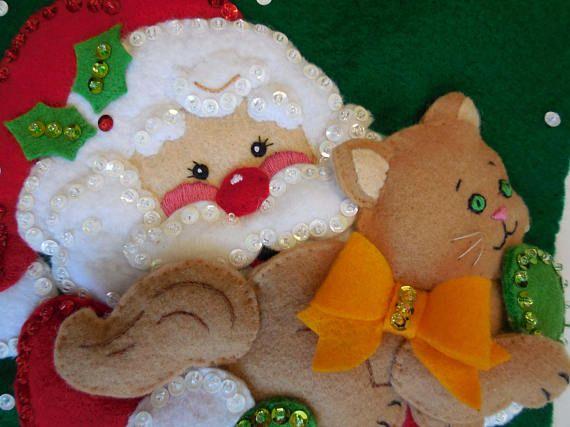 Final media de la Navidad mascotas de Santa